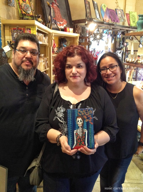 Lawrence and me with artist Anna Alvarado - susie carranza studio