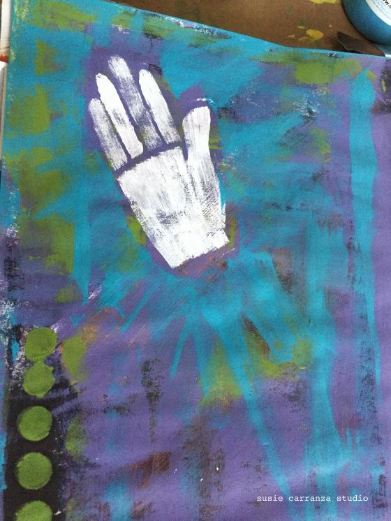 Balzer Bits hand stencil...