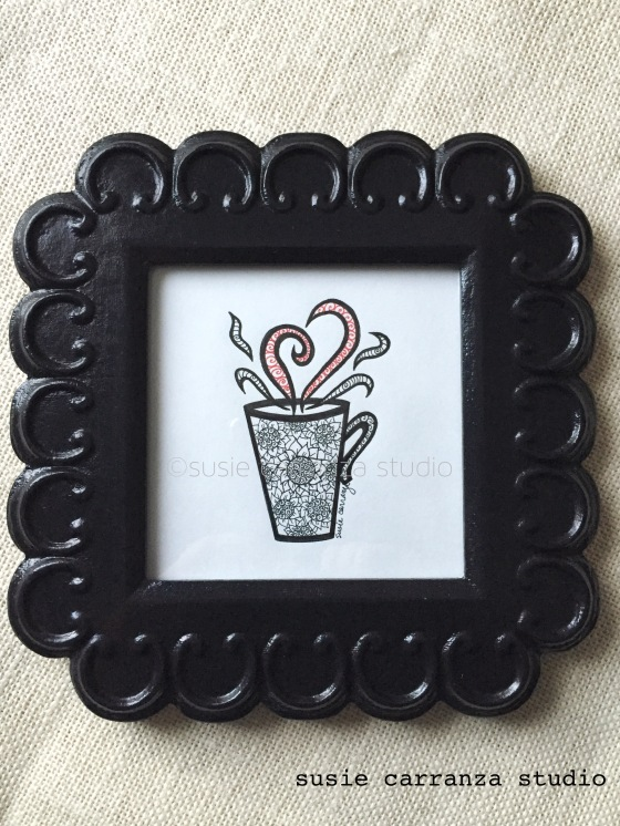 """My Favorite Cup"" - original drawing by Susie Carranza"