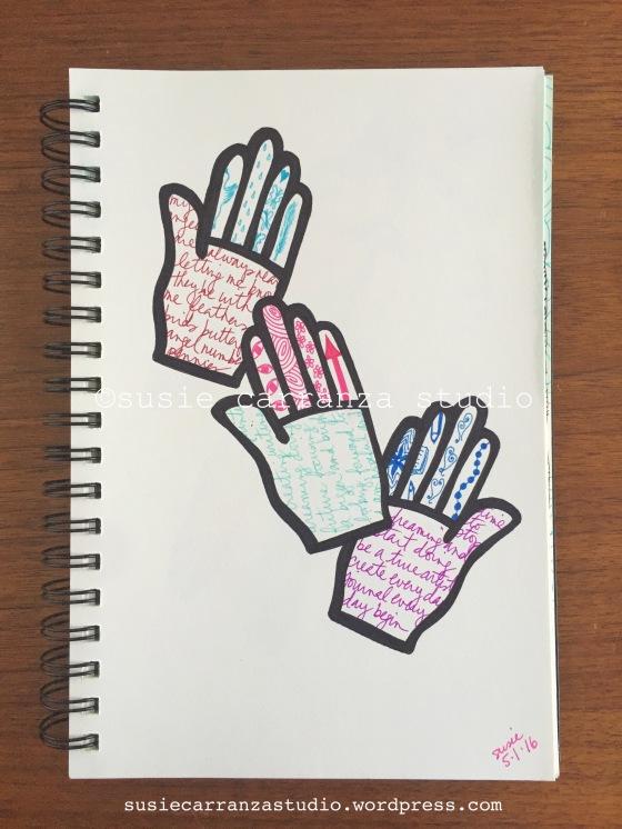 Love my Balzer Bits hand stencil! - susie carranza studio