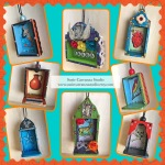 Unique Loteria and Frida inspired wood ornaments! $12 each...