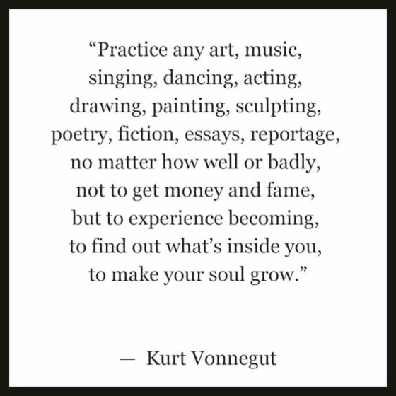 wise words from Kurt Vonnegut - susie carranza studio