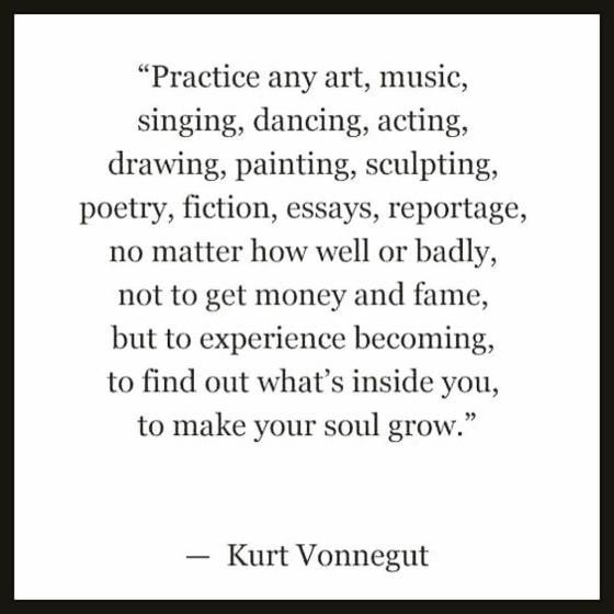 wise words from Kurt Vonnegut - susie carranza studio