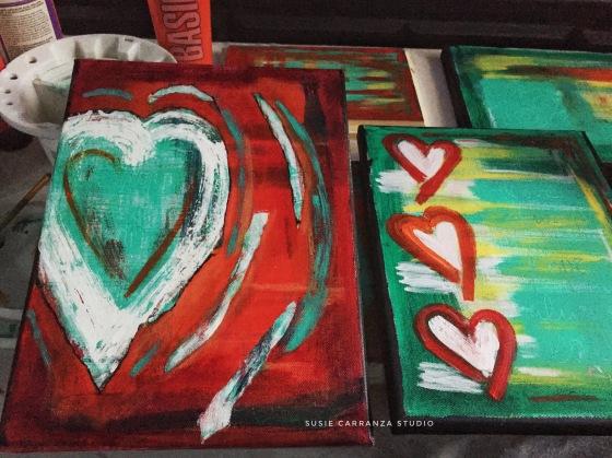 new paintings in progress - susie carranza studio