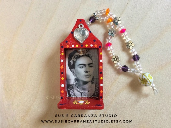 Mini Hand-beaded Frida Kahlo Ornament - Susie Carranza Studio