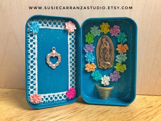 Virgen de Guadalupe nicho by Susie Carranza Studio