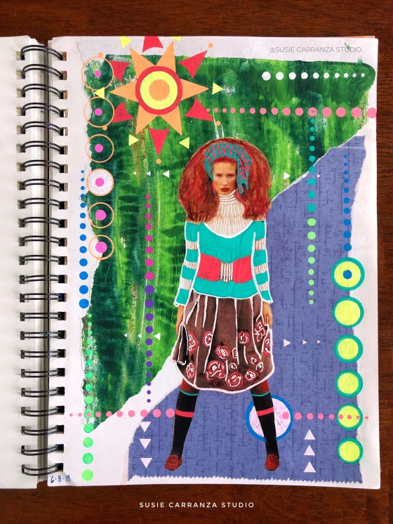 """wild child"" art journal page - susie carranza studio"