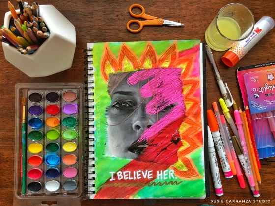 I believe her. Journal page - susie carranza studio