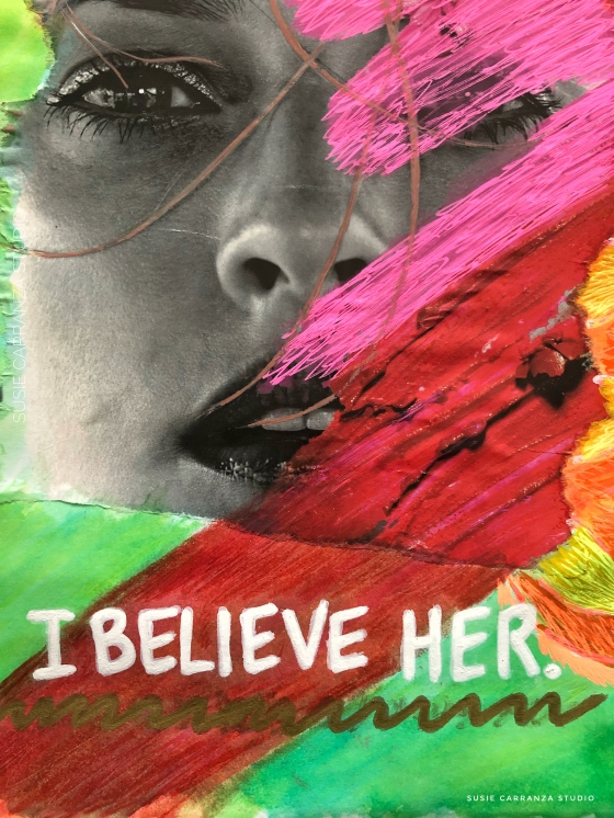I believe her. Journal page close up - susie carranza studio