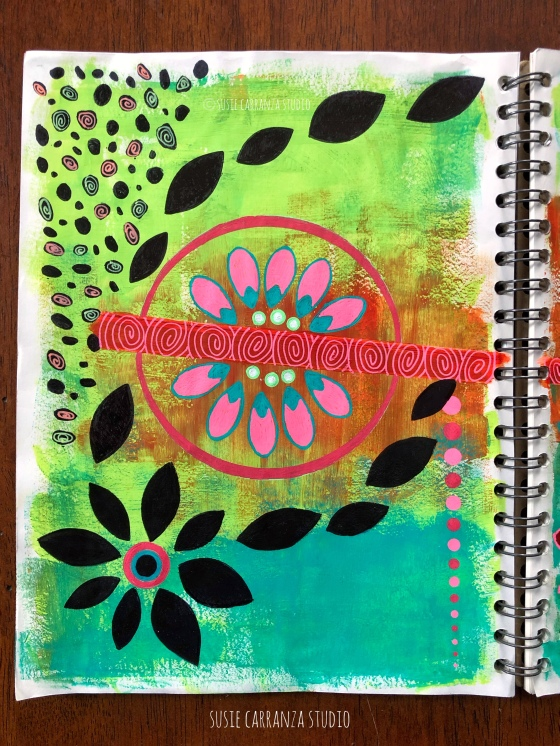 art journal pages, March 2020